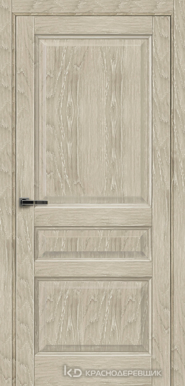 Экселент ДубСедойPVC Дверь Э33 ДГ, 21- 9, с мех.замком RENZ INLB96PLINDC п/фикс, хром; 2 скр.петли IN301090, Прямой притвор