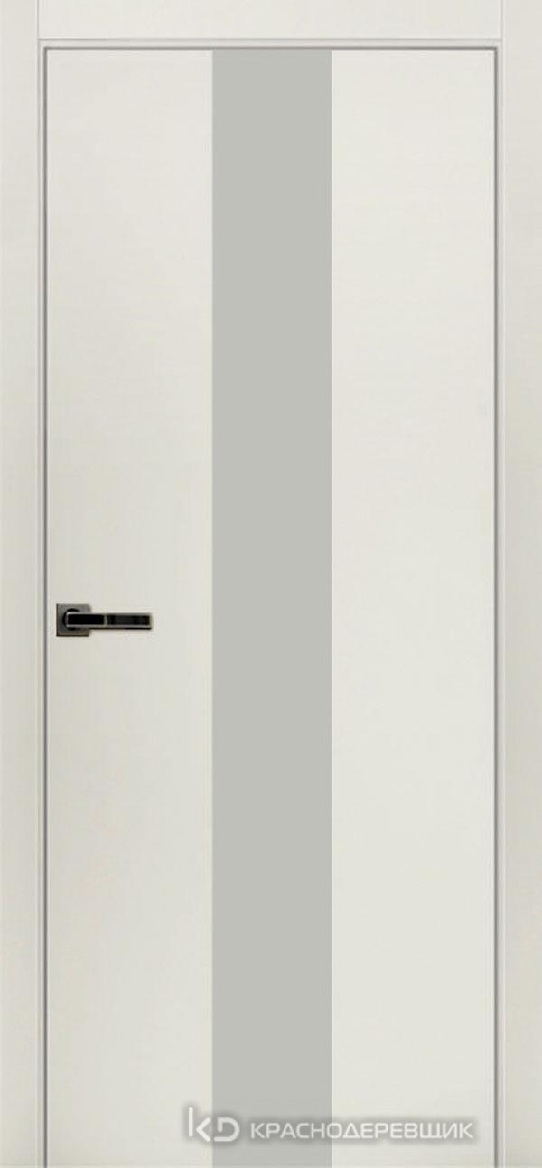 Экселент БелыйCPL Дверь ЭМ04 ДО, 21- 9, LacobelБелый, с магн.замком AGB B041035034 п/цил, хром; Без фрезеровки под петли, Прямой притвор