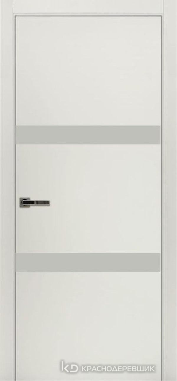 Экселент БелыйCPL Дверь ЭМ09 ДО, 21- 9, LacobelБелый, с магн.замком AGB B041035034 п/цил, хром; Без фрезеровки под петли, Прямой притвор