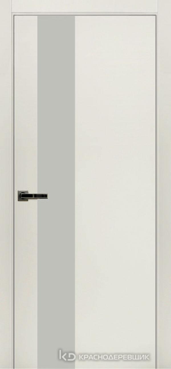 Экселент БелыйCPL Дверь ЭМ10 ДО, 21- 9, LacobelБелый, с магн.замком AGB B041035034 п/цил, хром; Без фрезеровки под петли, Прямой притвор