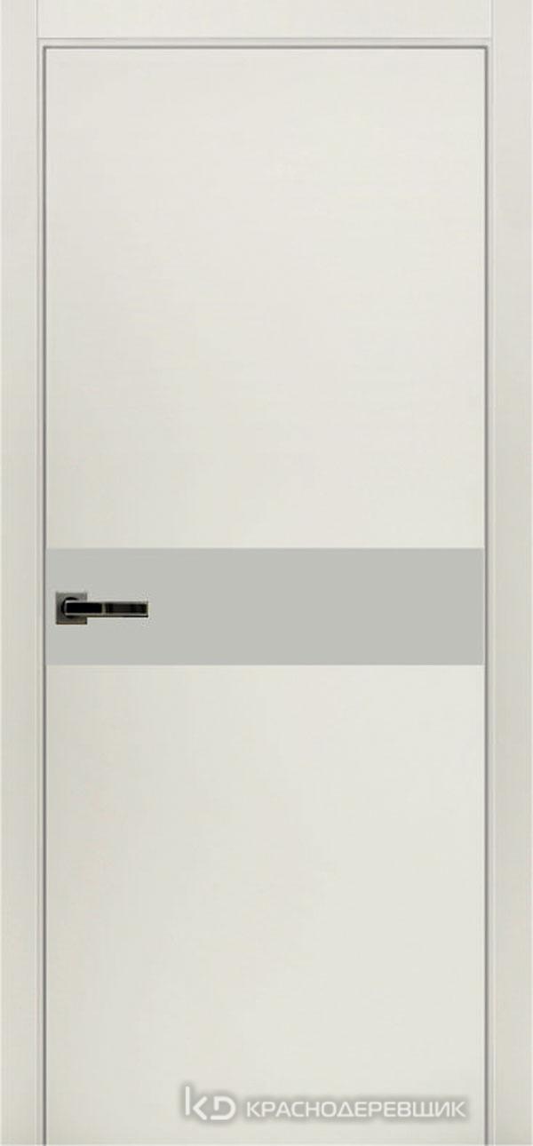 Экселент БелыйCPL Дверь ЭМ11 ДО, 21- 9, LacobelБелый, с мех.замком RENZ INLB96PLINDC п/фикс, хром; Без фрезеровки под петли, Прямой притвор