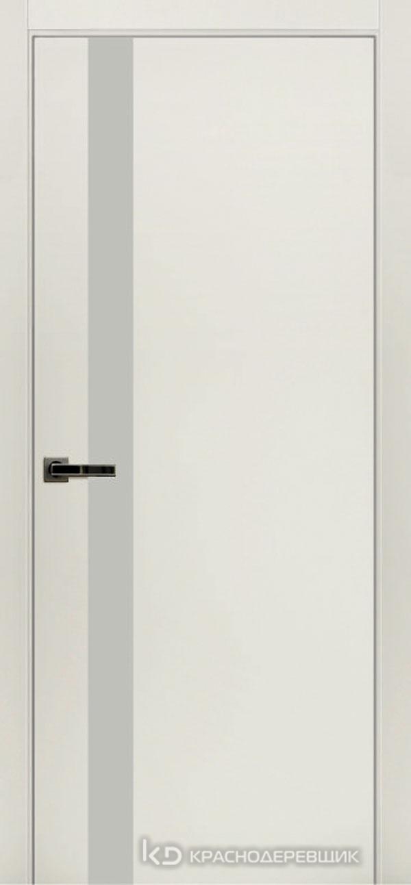 Экселент БелыйCPL Дверь ЭМ01 ДО, 21- 9, LacobelБелый, с мех.замком RENZ INLB96PLINDC п/фикс, хром; 2 скр.петли IN301090, Прямой притвор