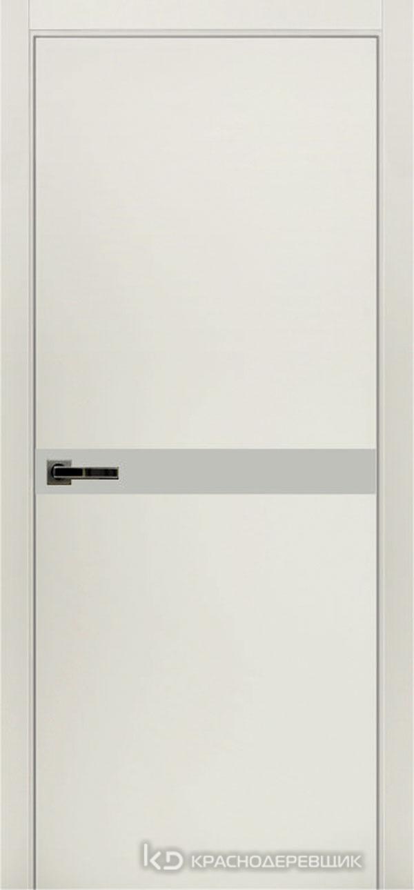 Экселент БелыйCPL Дверь ЭМ12 ДО, 21- 9, LacobelБелый, с мех.замком RENZ INLB96PLINDC п/фикс, хром; 2 скр.петли IN301090, Прямой притвор