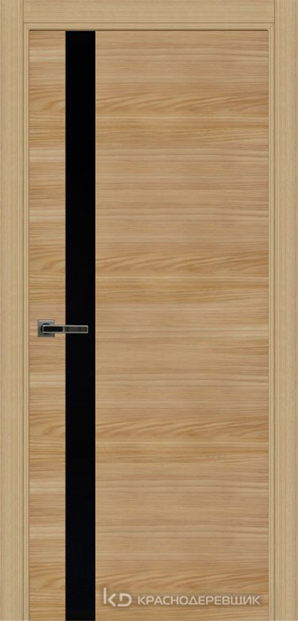 Экселент ИльмSL горизонт Дверь ЭМ01 ДО, 21- 9, LacobelЧерный, с мех.замком RENZ INLB96PLINDC п/фикс, хром; 2 скр.петли IN301090, Прямой притвор