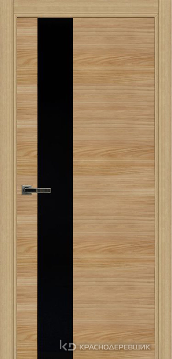 Экселент ИльмSL горизонт Дверь ЭМ10 ДО, 21- 9, LacobelЧерный, с мех.замком RENZ INLB96PLINDC п/фикс, хром; 2 скр.петли IN301090, Прямой притвор