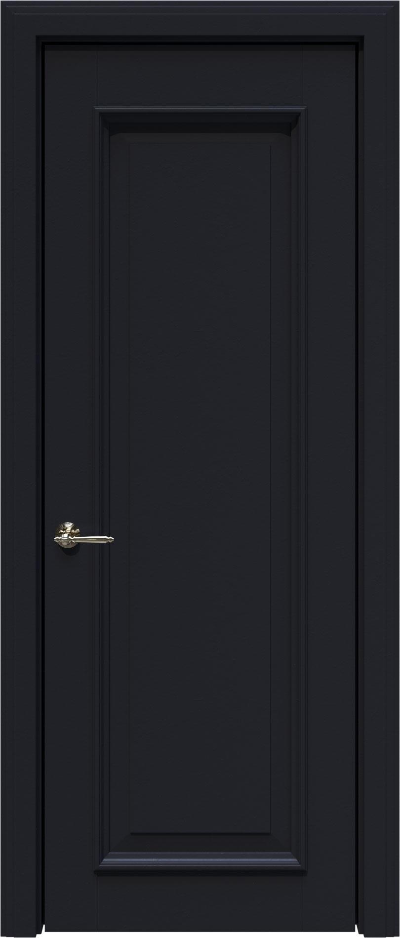 Domenica LUX цвет - Черная эмаль (RAL 9004) Без стекла (ДГ)