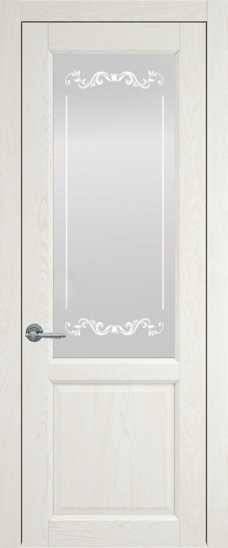 Dinastia цвет - Белый ясень (nano-flex) Со стеклом (ДО)