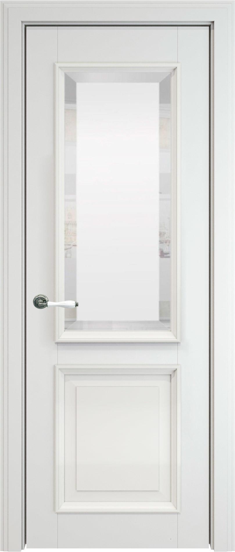 Dinastia LUX цвет - Белая эмаль (RAL 9003) Со стеклом (ДО)