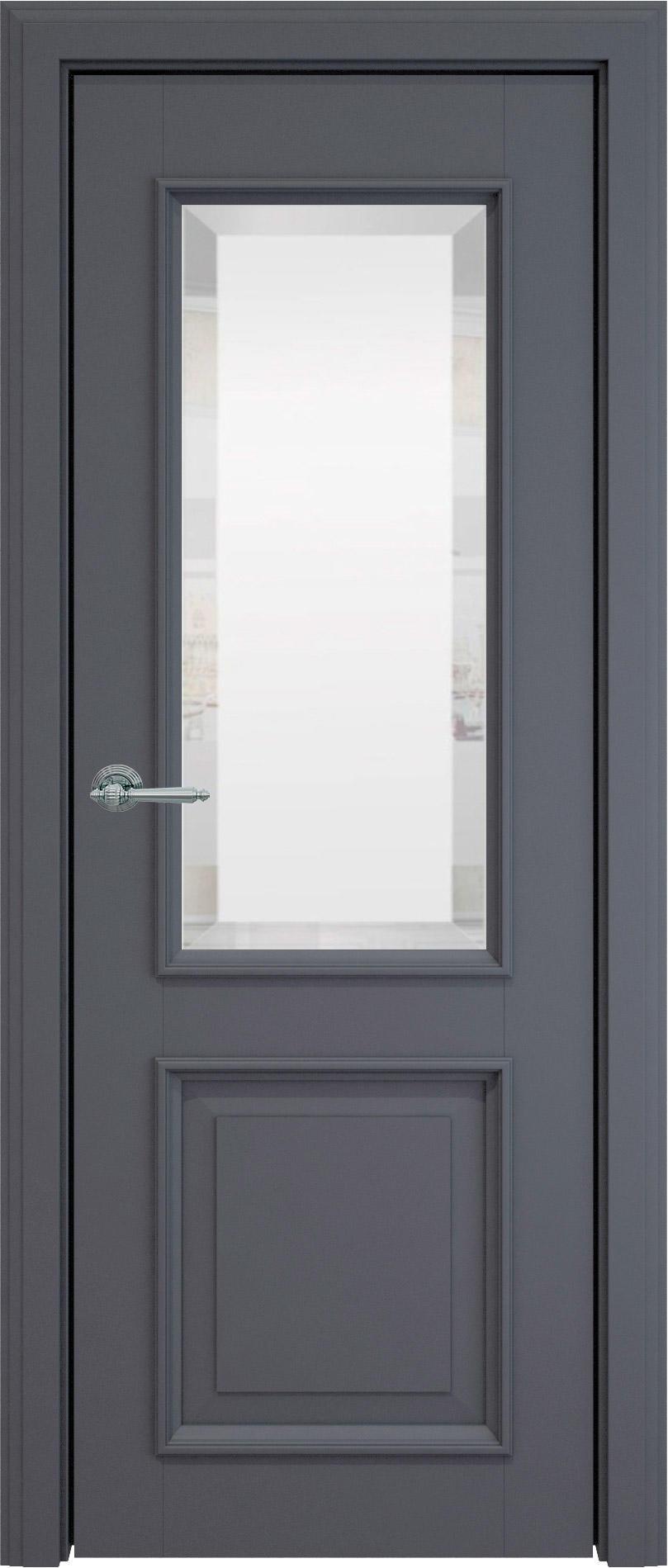 Dinastia LUX цвет - Графитово-серая эмаль (RAL 7024) Со стеклом (ДО)