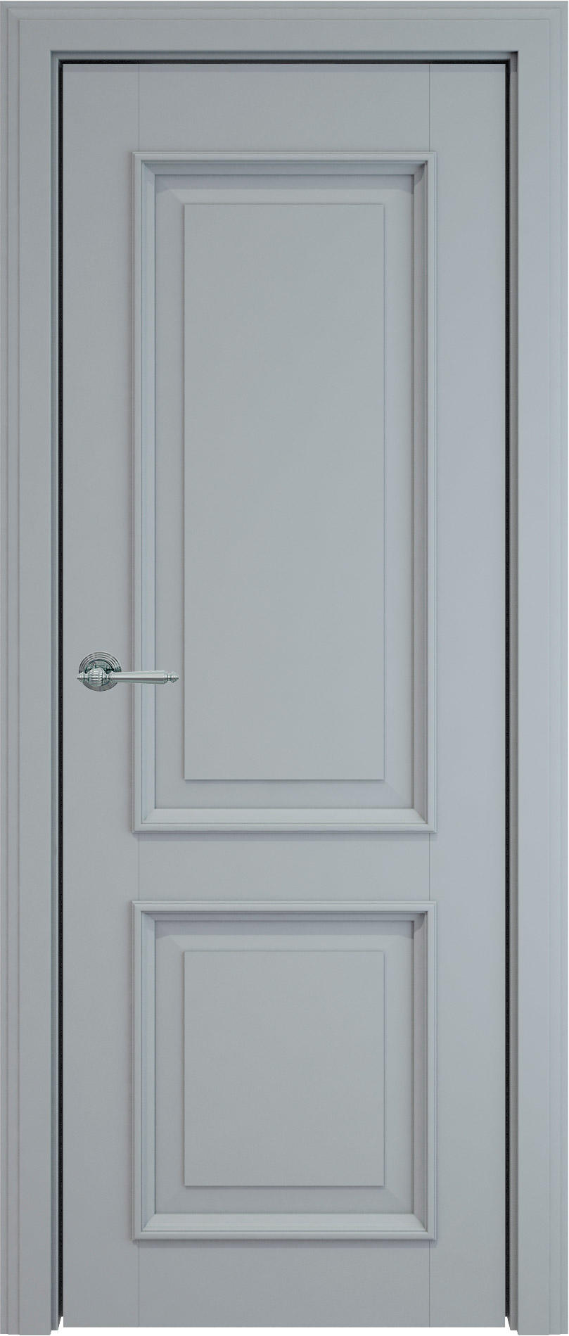 Dinastia LUX цвет - Серебристо-серая эмаль (RAL 7045) Без стекла (ДГ)
