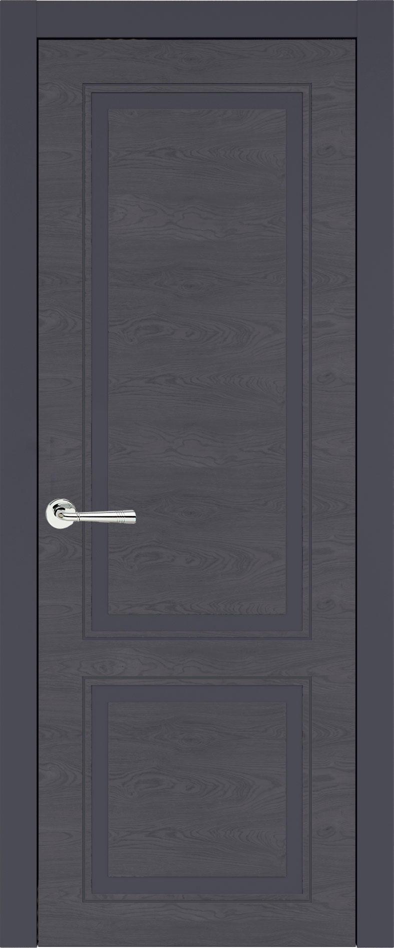 Dinastia Neo Classic цвет - Графитово-серая эмаль по шпону (RAL 7024) Без стекла (ДГ)