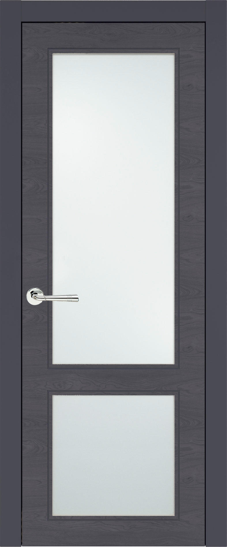 Dinastia Neo Classic цвет - Графитово-серая эмаль по шпону (RAL 7024) Со стеклом (ДО)