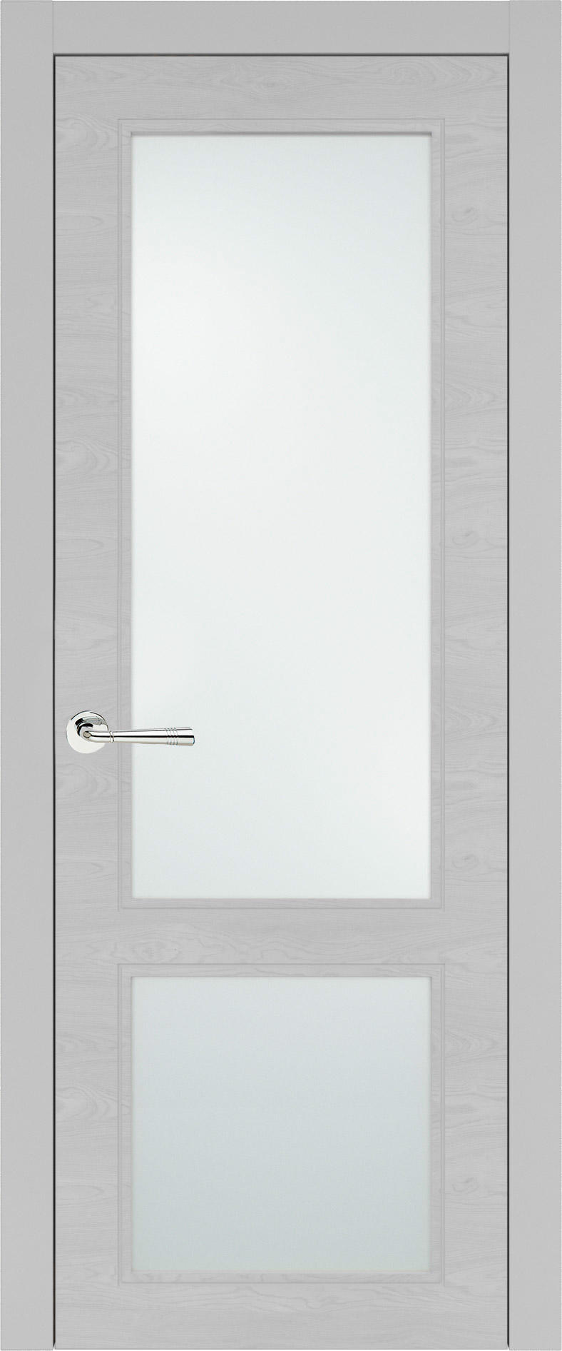Dinastia Neo Classic цвет - Серая эмаль по шпону (RAL 7047) Со стеклом (ДО)