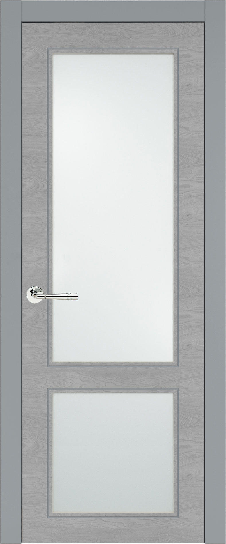 Dinastia Neo Classic цвет - Серебристо-серая эмаль по шпону (RAL 7045) Со стеклом (ДО)