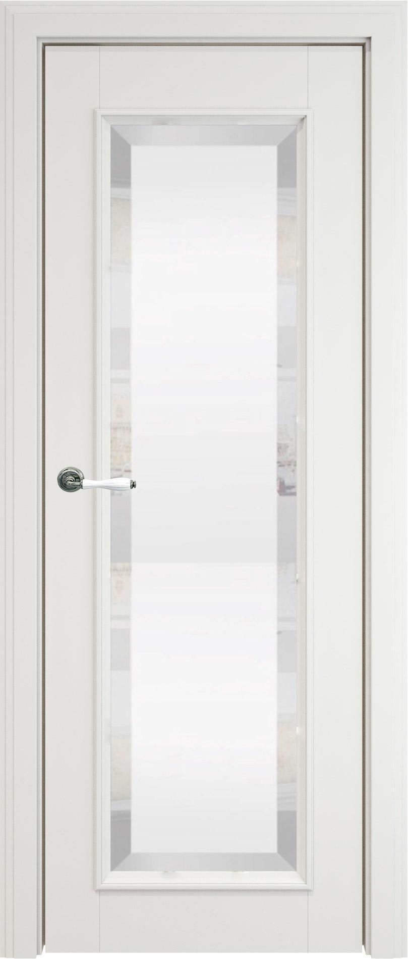 Domenica LUX цвет - Белая эмаль (RAL 9003) Со стеклом (ДО)