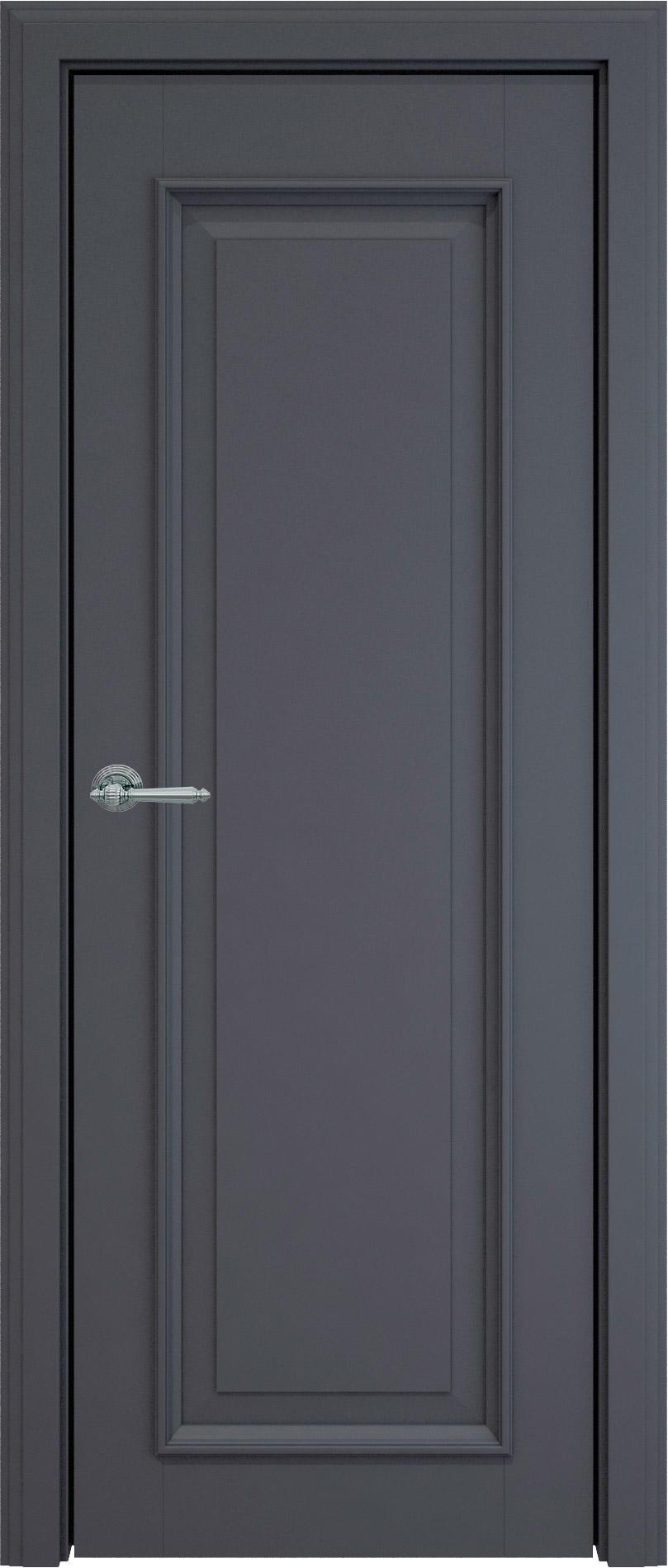 Domenica LUX цвет - Графитово-серая эмаль (RAL 7024) Без стекла (ДГ)