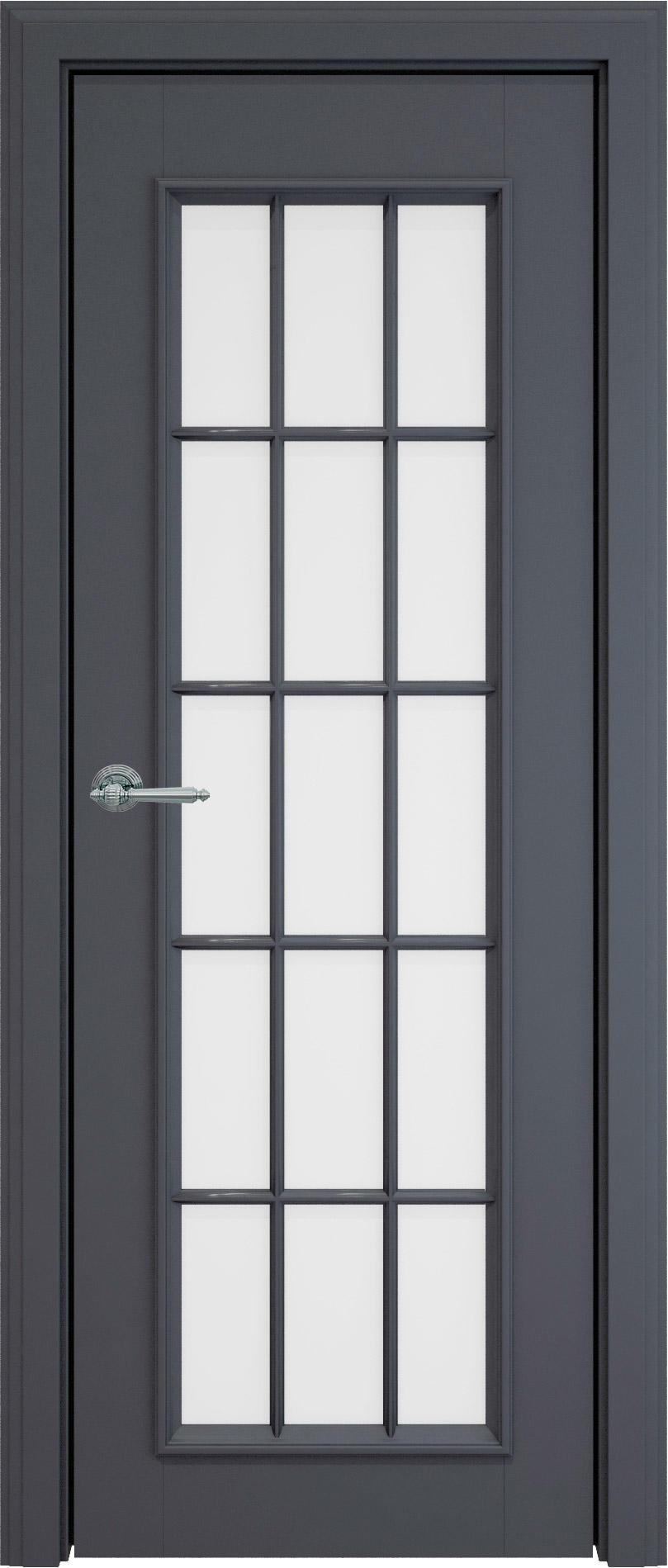 Domenica LUX цвет - Графитово-серая эмаль (RAL 7024) Со стеклом и обрешеткой (ДО-Р)