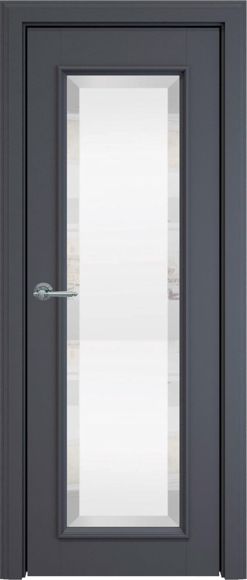 Domenica LUX цвет - Графитово-серая эмаль (RAL 7024) Со стеклом (ДО)