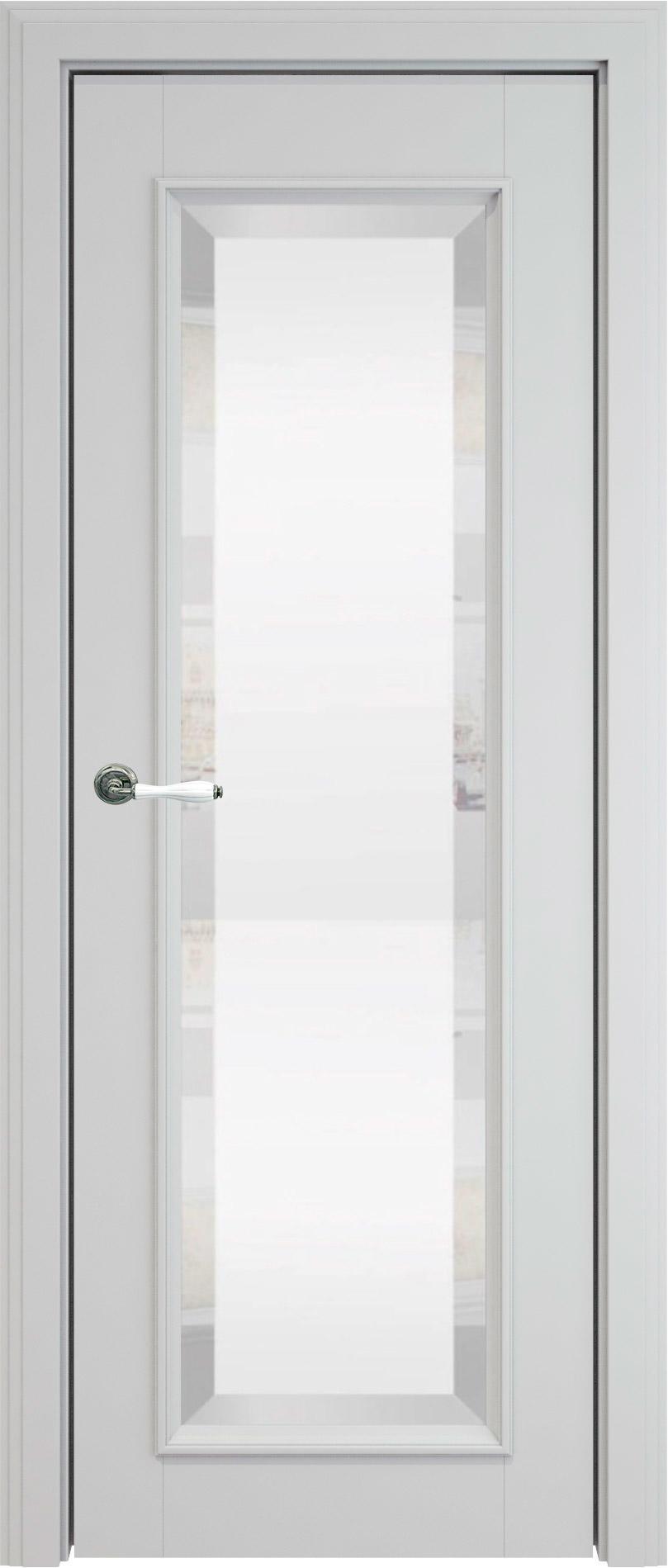 Domenica LUX цвет - Серая эмаль (RAL 7047) Со стеклом (ДО)