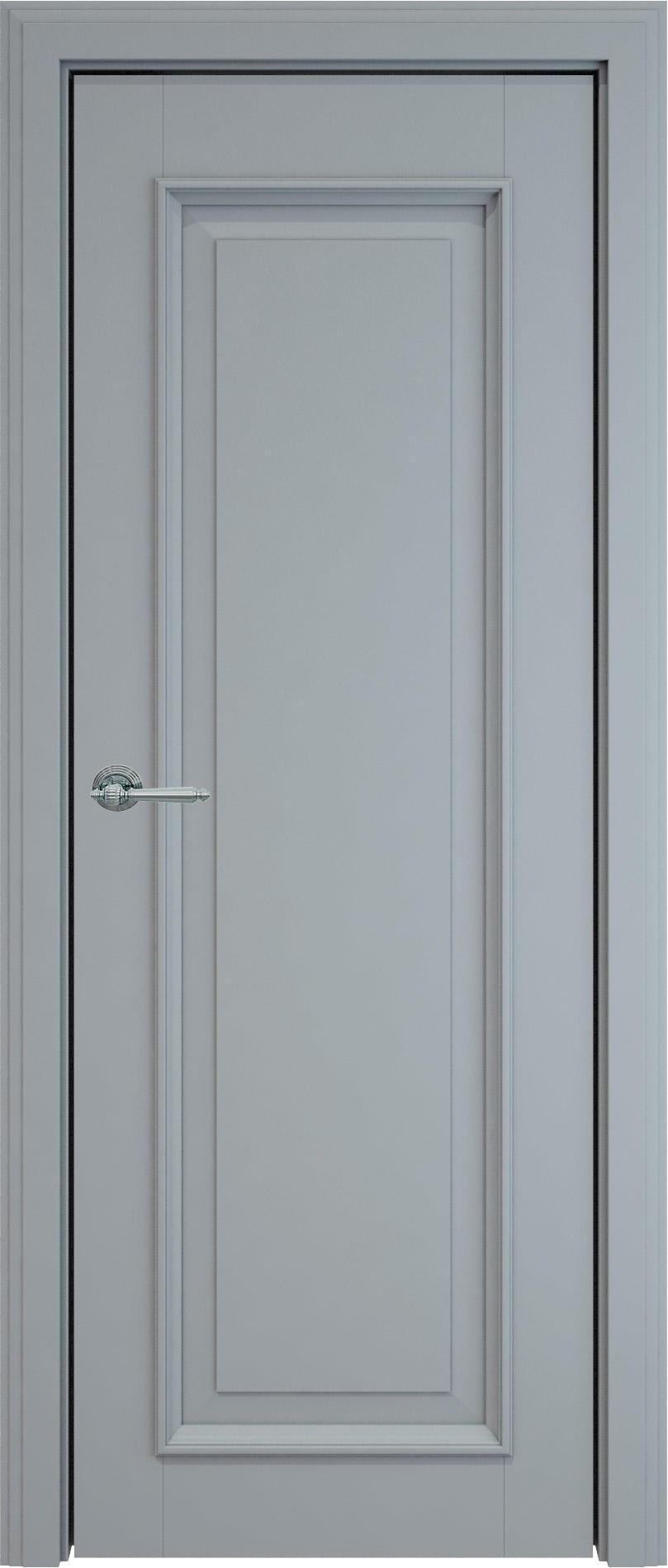 Domenica LUX цвет - Серебристо-серая эмаль (RAL 7045) Без стекла (ДГ)