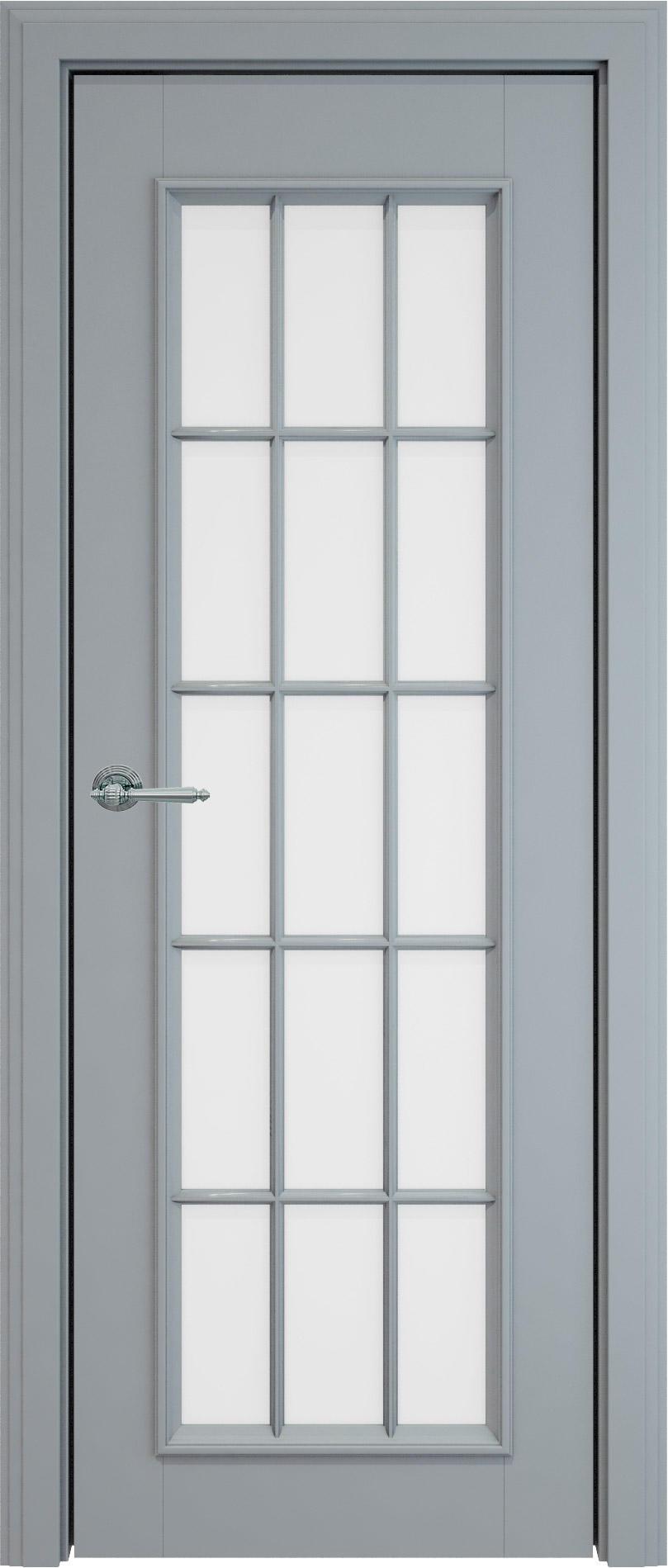 Domenica LUX цвет - Серебристо-серая эмаль (RAL 7045) Со стеклом и обрешеткой (ДО-Р)