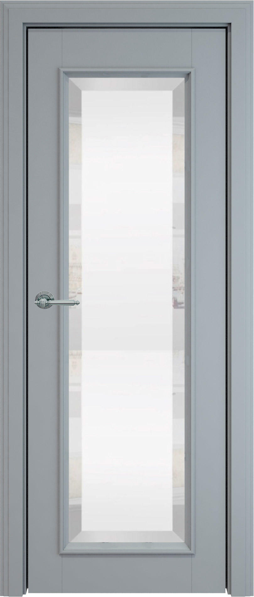 Domenica LUX цвет - Серебристо-серая эмаль (RAL 7045) Со стеклом (ДО)