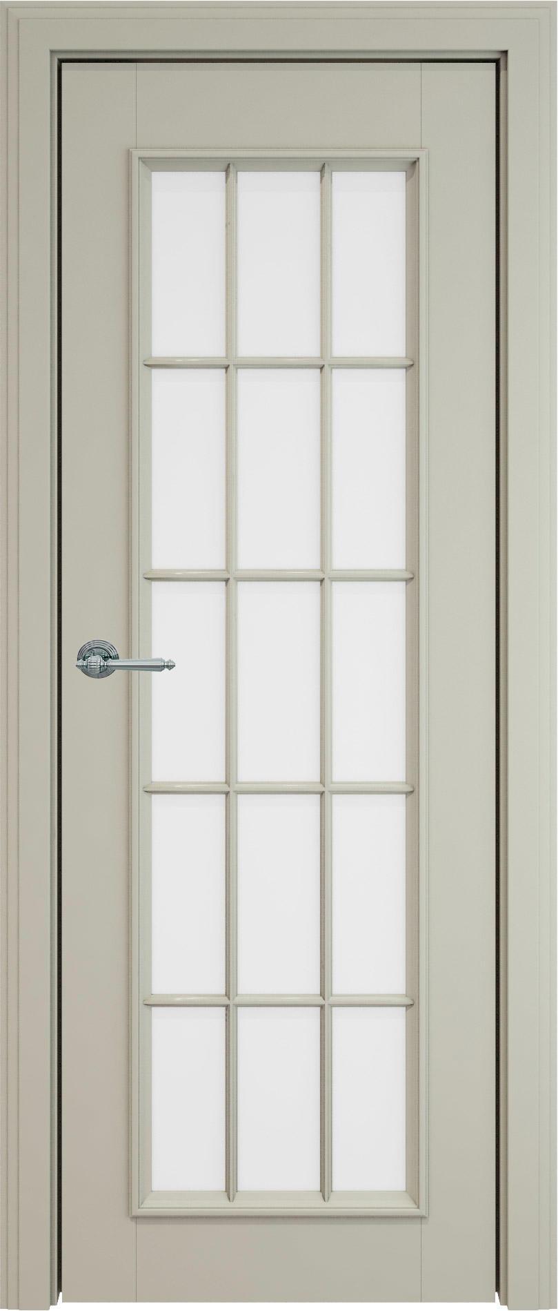 Domenica LUX цвет - Серо-оливковая эмаль (RAL 7032) Со стеклом и обрешеткой (ДО-Р)
