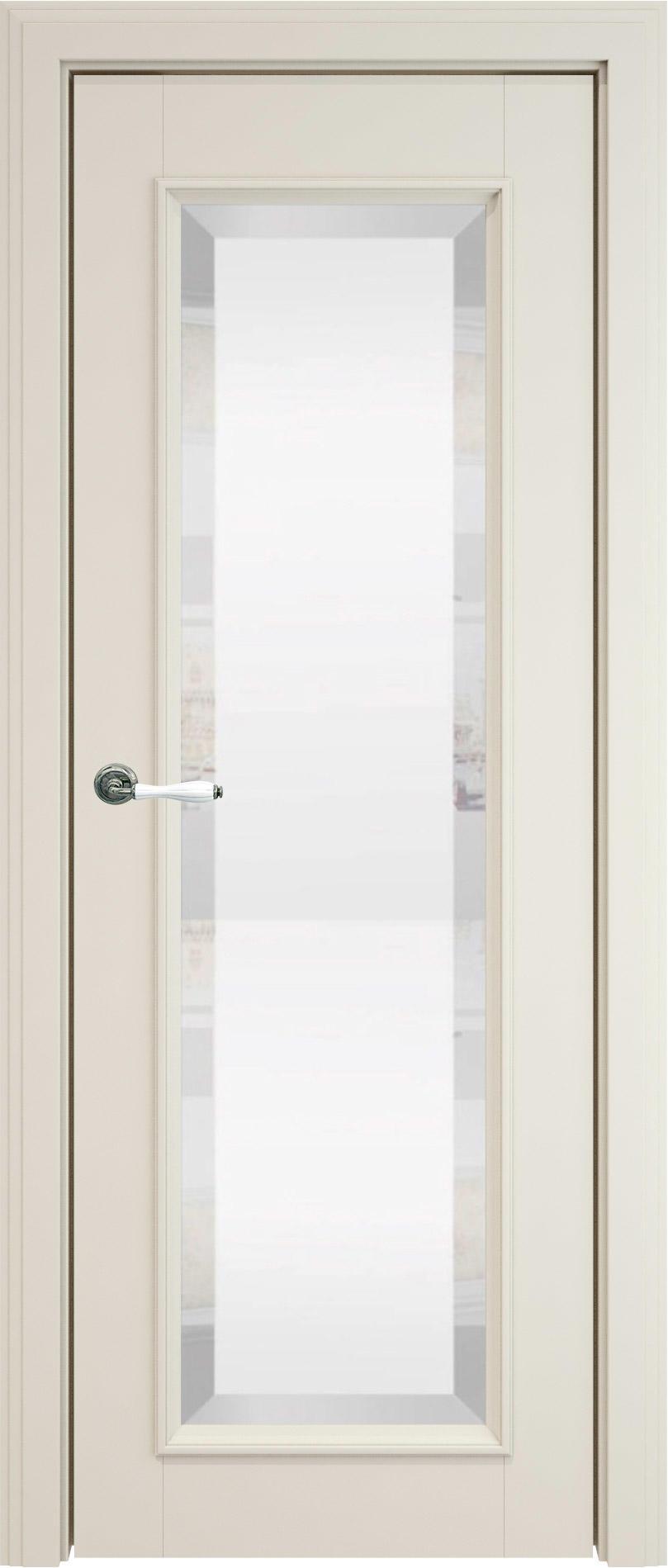 Domenica LUX цвет - Жемчужная эмаль (RAL 1013) Со стеклом (ДО)