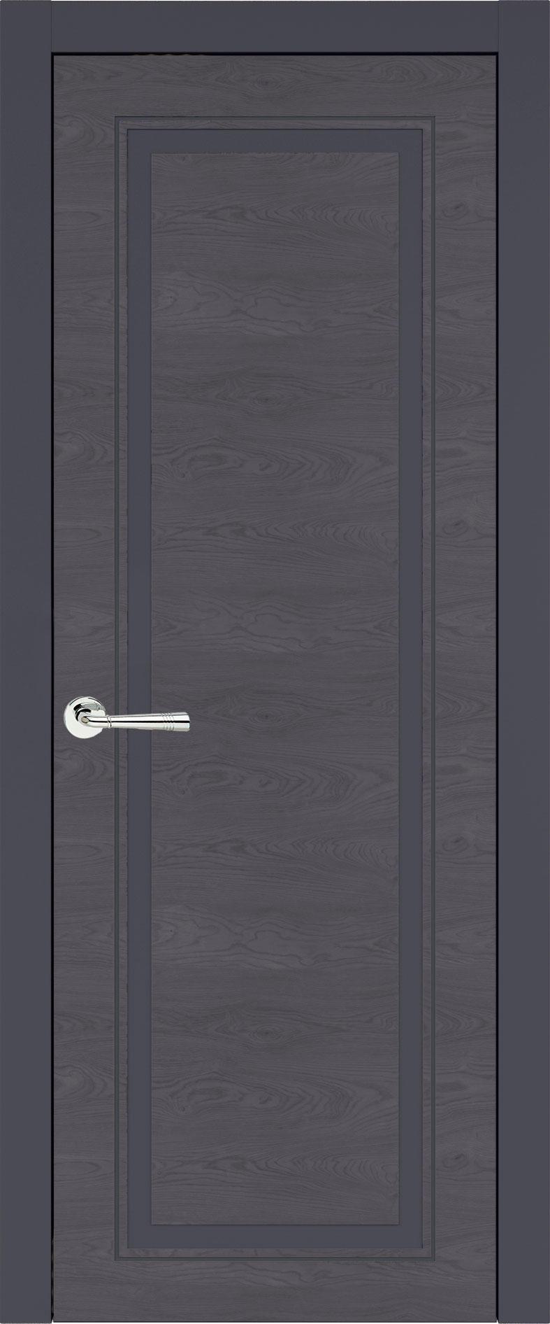 Domenica Neo Classic цвет - Графитово-серая эмаль по шпону (RAL 7024) Без стекла (ДГ)