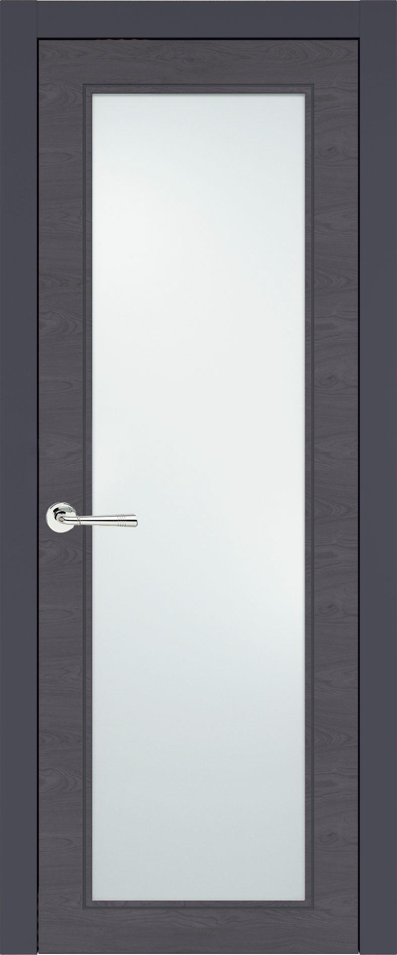 Domenica Neo Classic цвет - Графитово-серая эмаль по шпону (RAL 7024) Со стеклом (ДО)