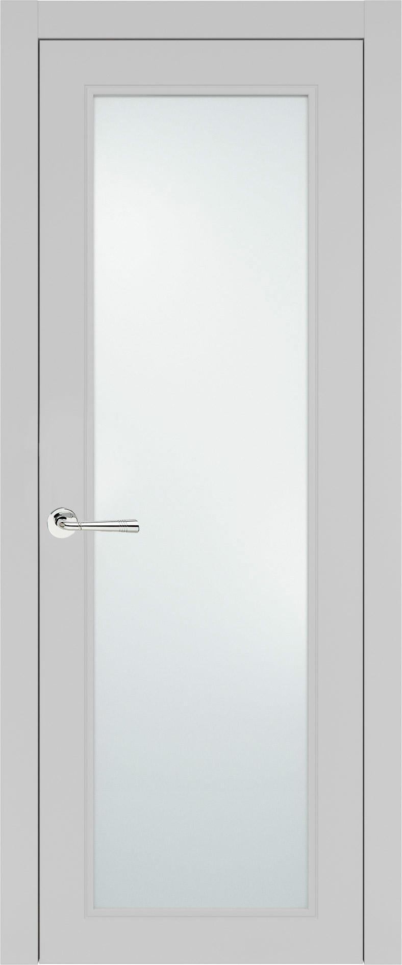 Domenica Neo Classic цвет - Серая эмаль (RAL 7047) Со стеклом (ДО)