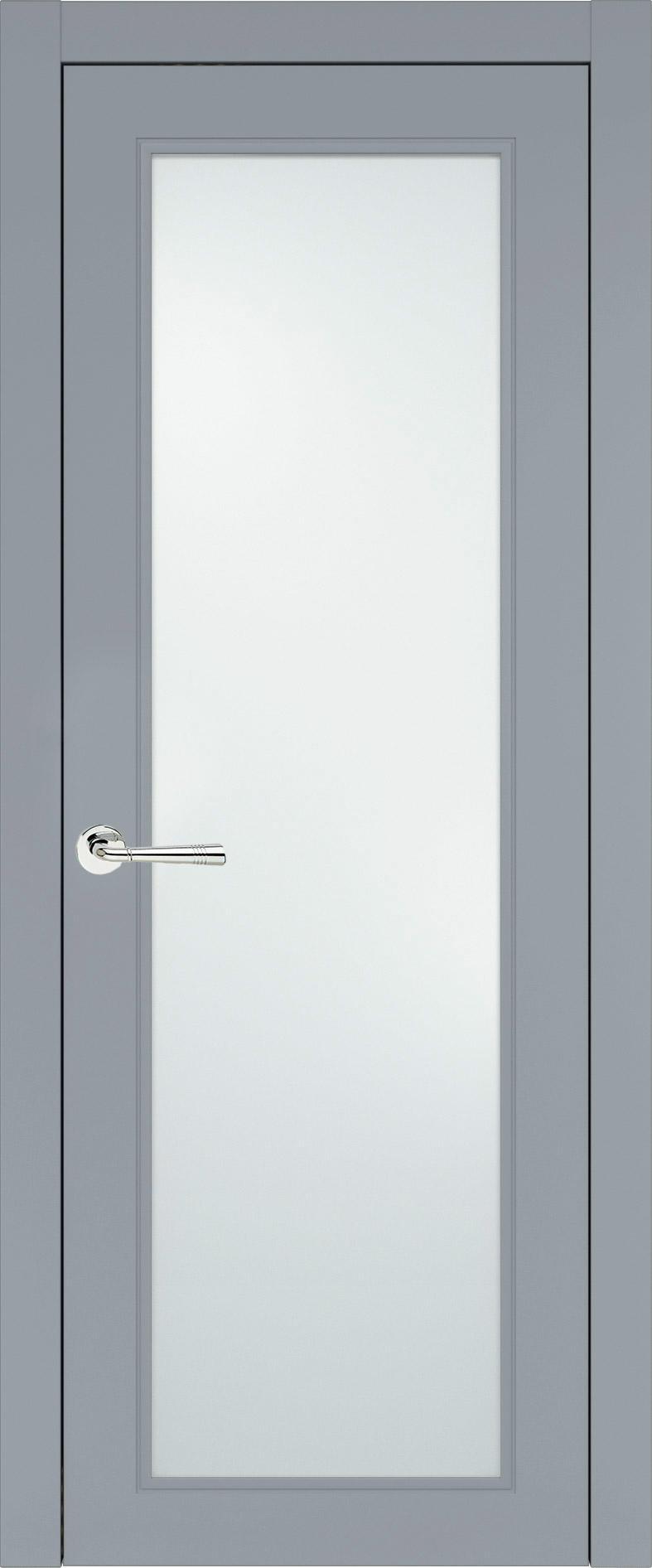 Domenica Neo Classic цвет - Серебристо-серая эмаль (RAL 7045) Со стеклом (ДО)