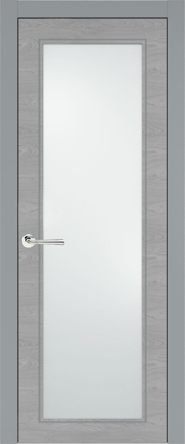 Domenica Neo Classic цвет - Серебристо-серая эмаль по шпону (RAL 7045) Со стеклом (ДО)