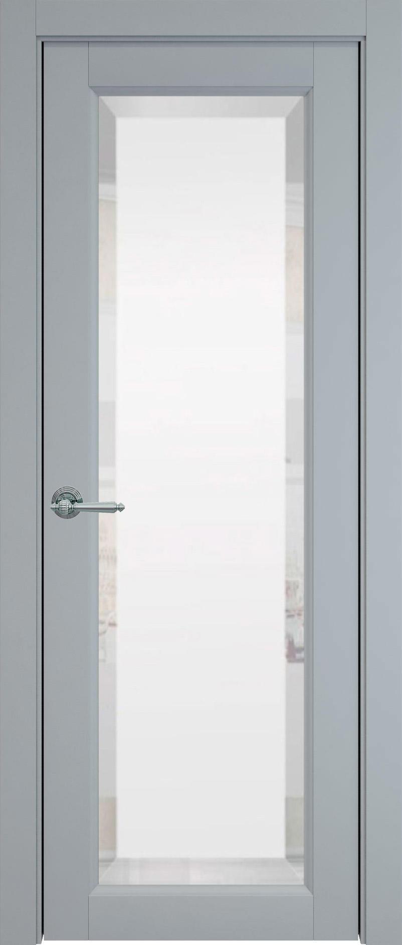 Domenica цвет - Серебристо-серая эмаль (RAL 7045) Со стеклом (ДО)