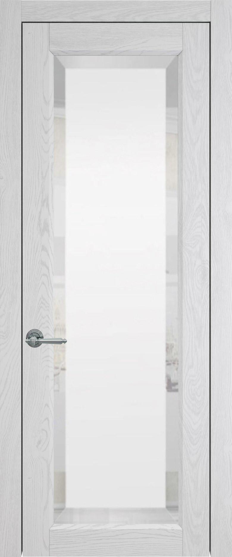 Domenica цвет - Белый ясень (шпон) Со стеклом (ДО)
