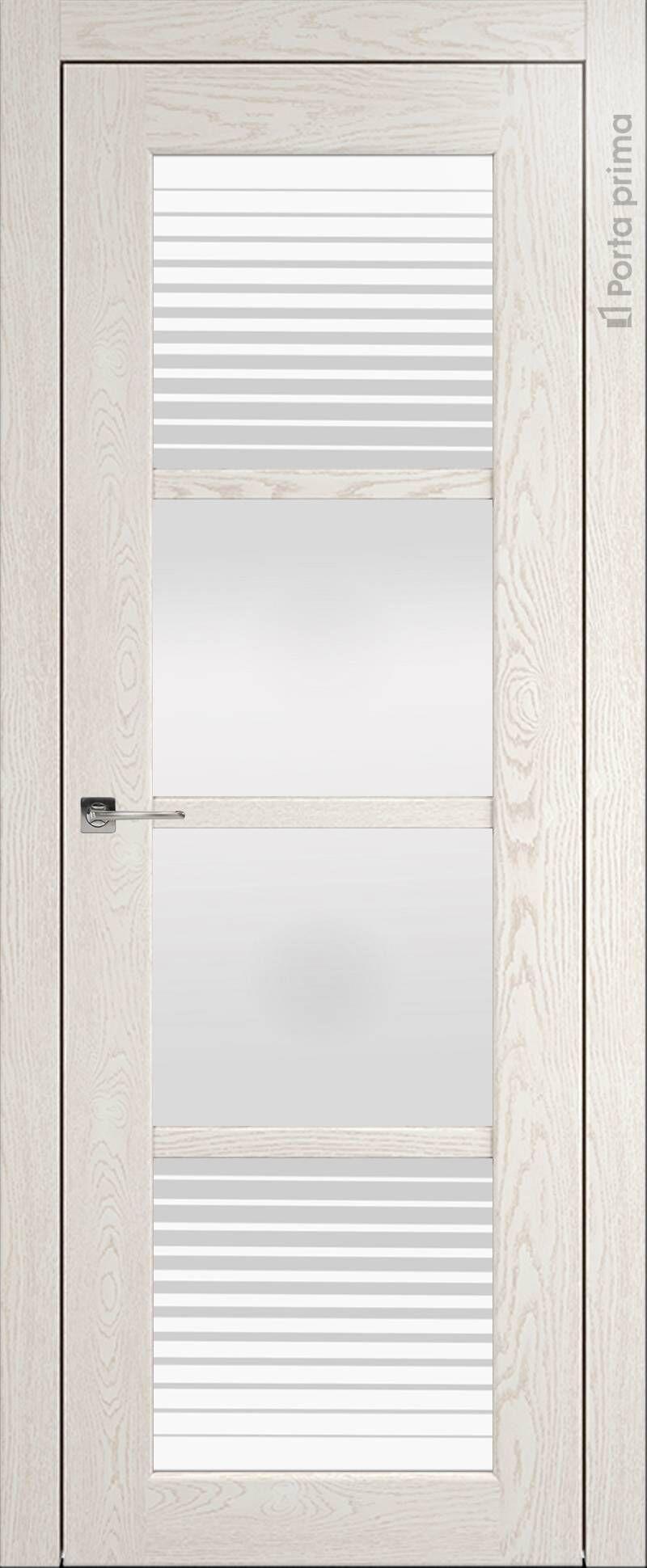 Felicia цвет - Белый ясень (nano-flex) Со стеклом (ДО)