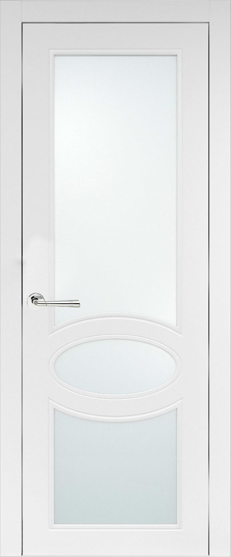 Florencia Neo Classic цвет - Белая эмаль (RAL 9003) Со стеклом (ДО)