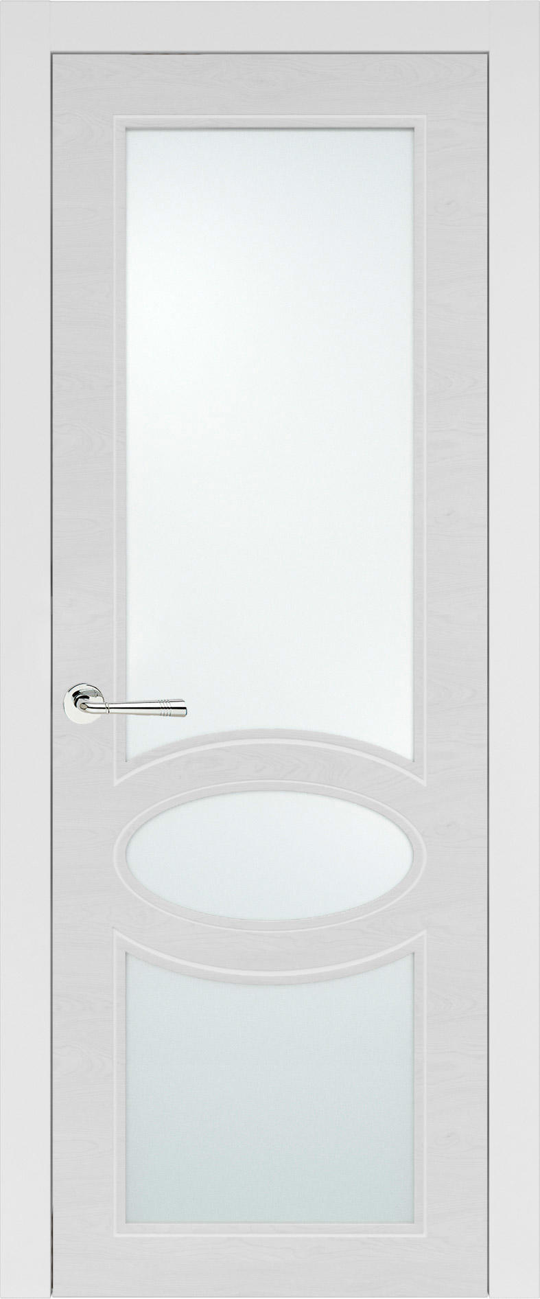 Florencia Neo Classic цвет - Белая эмаль по шпону (RAL 9003) Со стеклом (ДО)