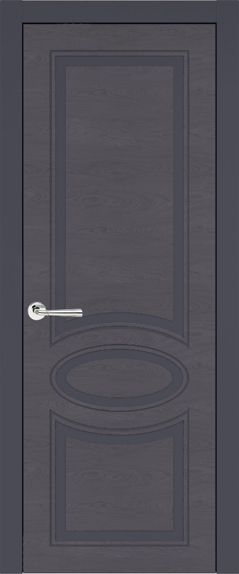 Florencia Neo Classic цвет - Графитово-серая эмаль по шпону (RAL 7024) Без стекла (ДГ)