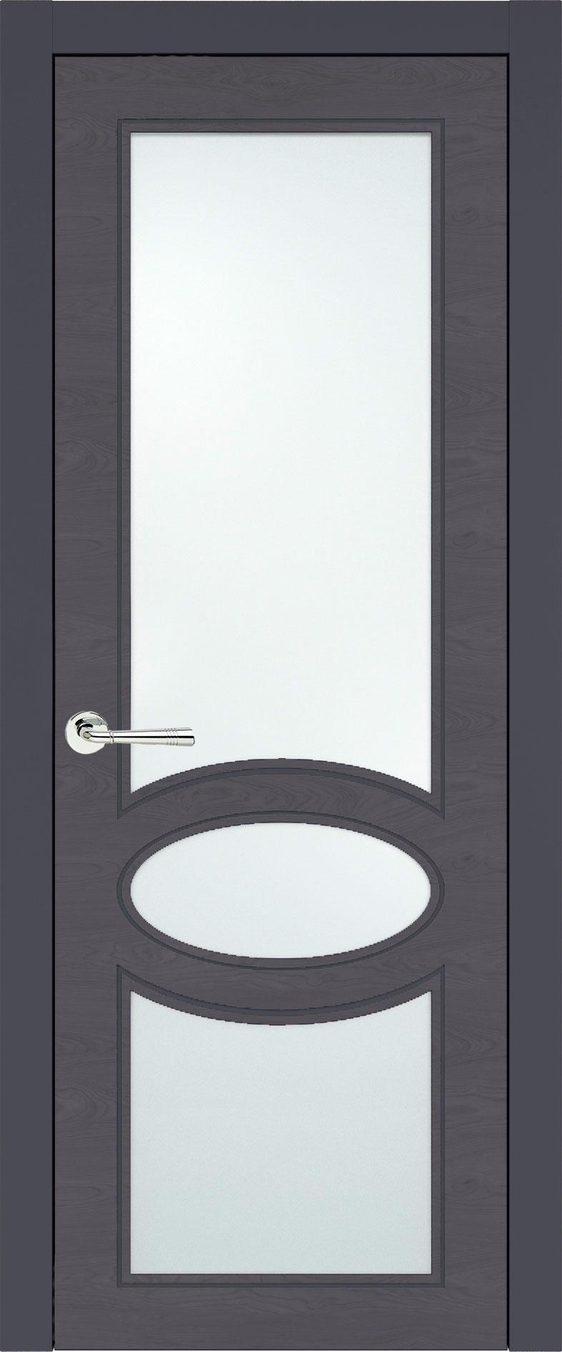 Florencia Neo Classic цвет - Графитово-серая эмаль по шпону (RAL 7024) Со стеклом (ДО)