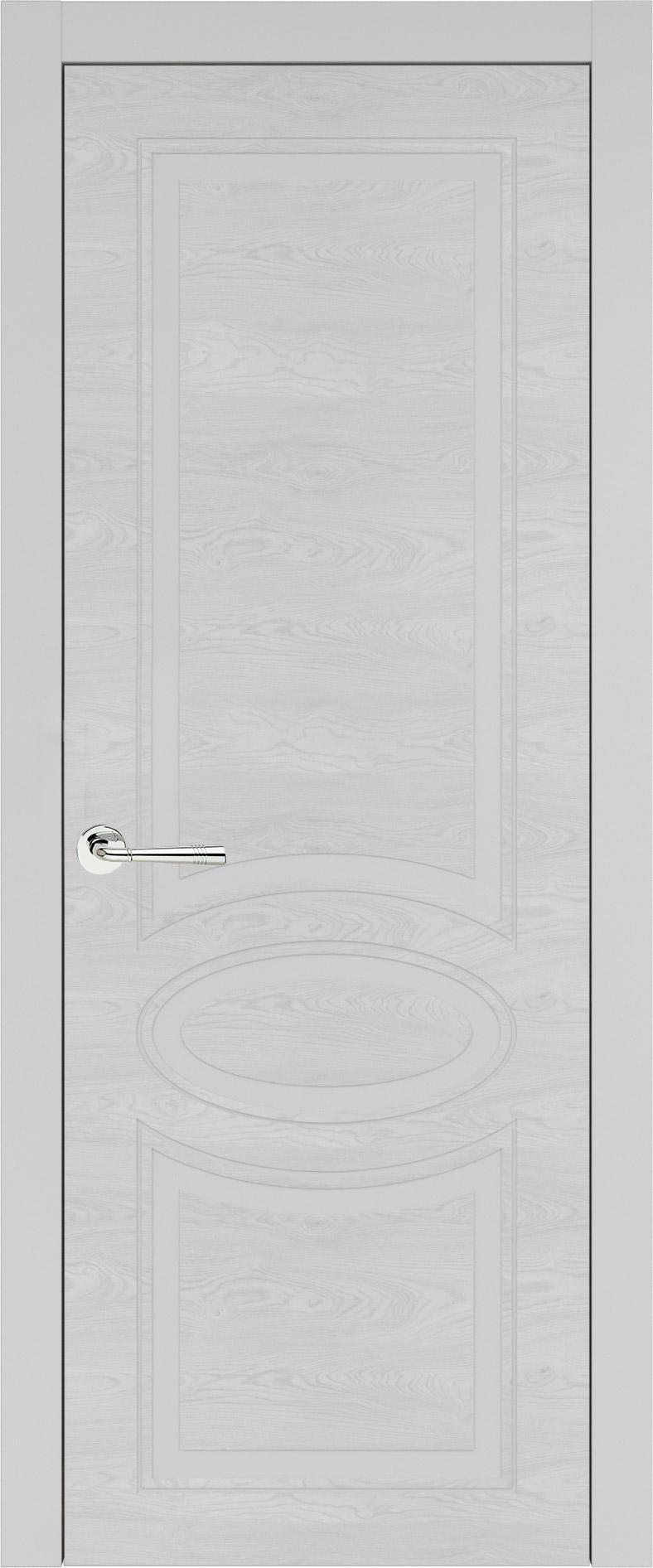 Florencia Neo Classic цвет - Серая эмаль по шпону (RAL 7047) Без стекла (ДГ)