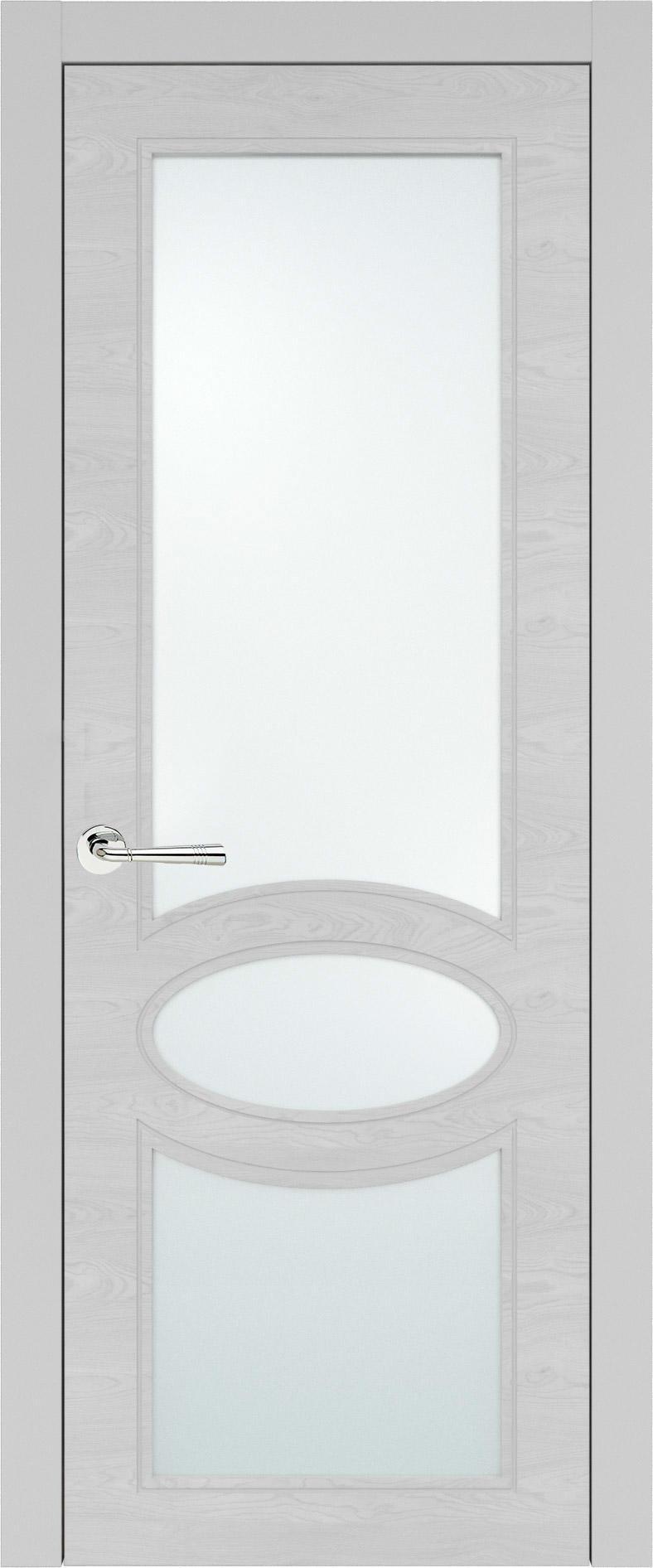 Florencia Neo Classic цвет - Серая эмаль по шпону (RAL 7047) Со стеклом (ДО)