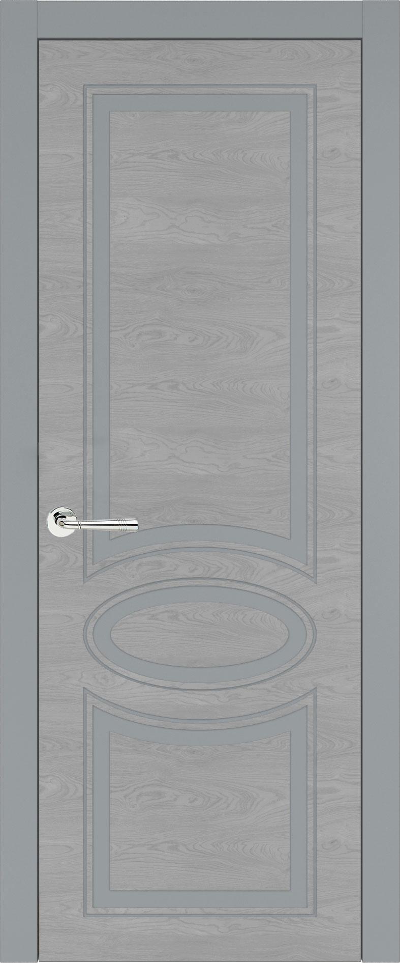 Florencia Neo Classic цвет - Серебристо-серая эмаль по шпону (RAL 7045) Без стекла (ДГ)