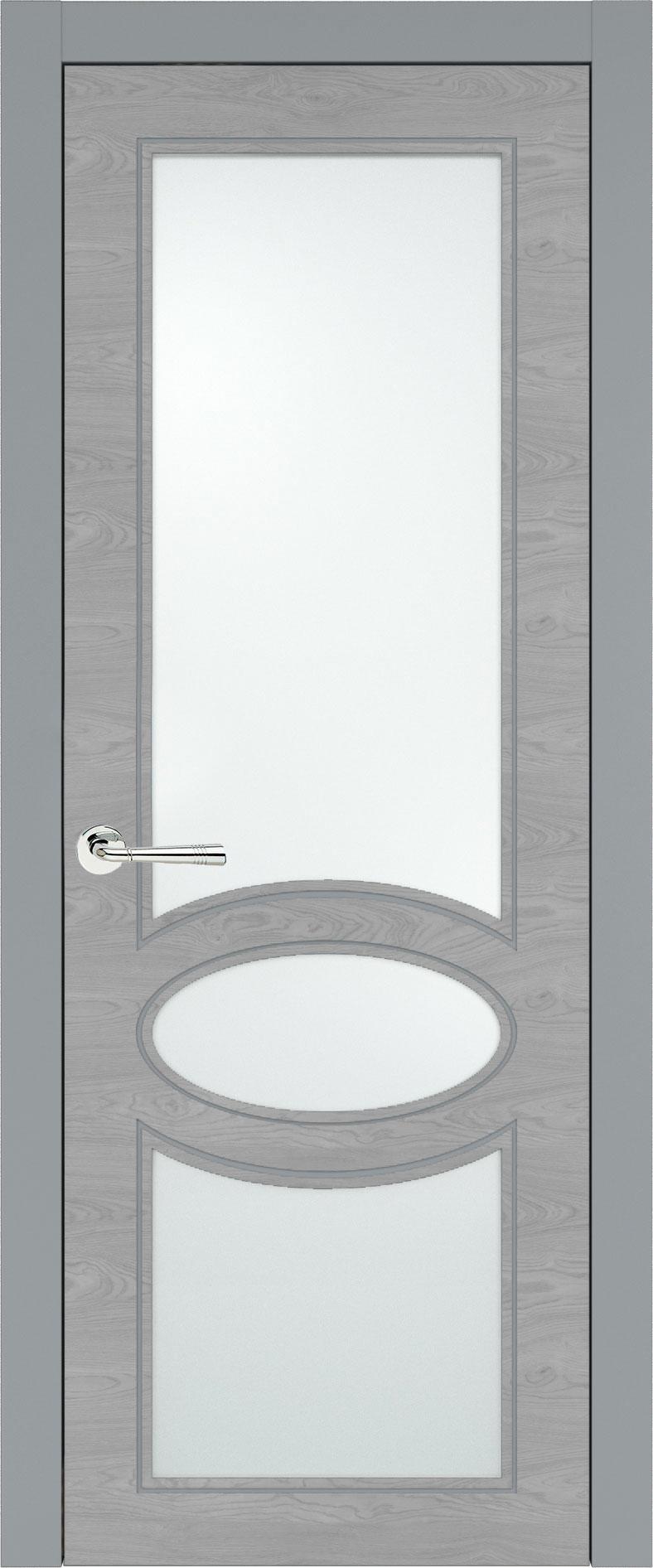 Florencia Neo Classic цвет - Серебристо-серая эмаль по шпону (RAL 7045) Со стеклом (ДО)