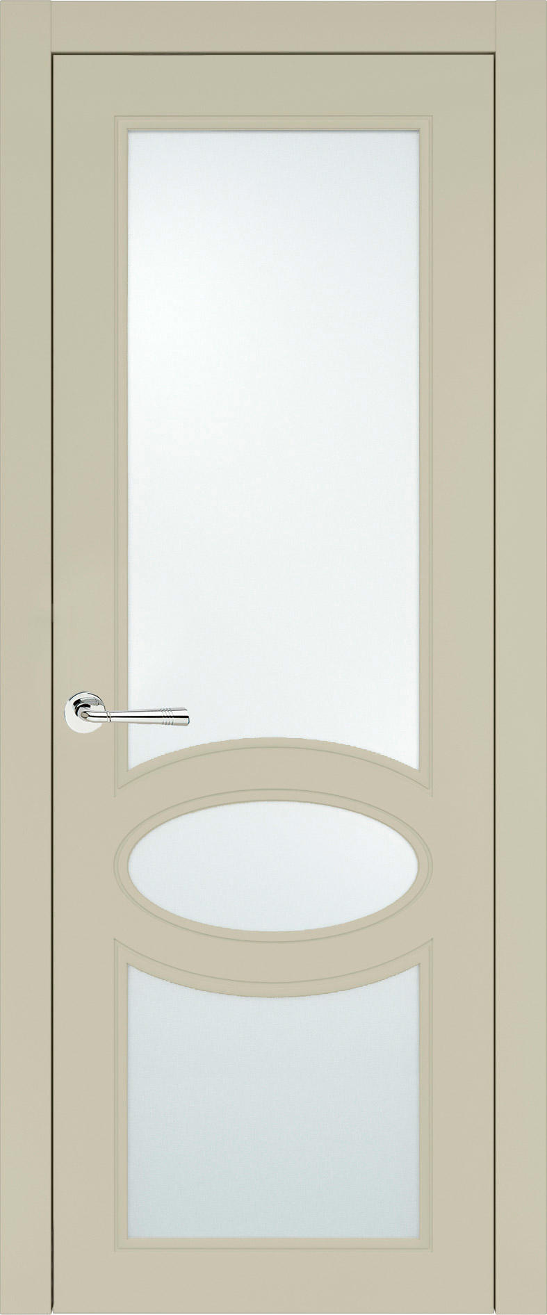 Florencia Neo Classic цвет - Серо-оливковая эмаль (RAL 7032) Со стеклом (ДО)