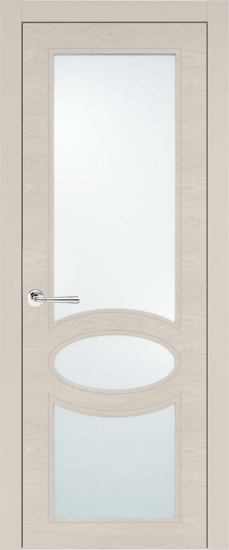 Florencia Neo Classic цвет - Жемчужная эмаль по шпону (RAL 1013) Со стеклом (ДО)