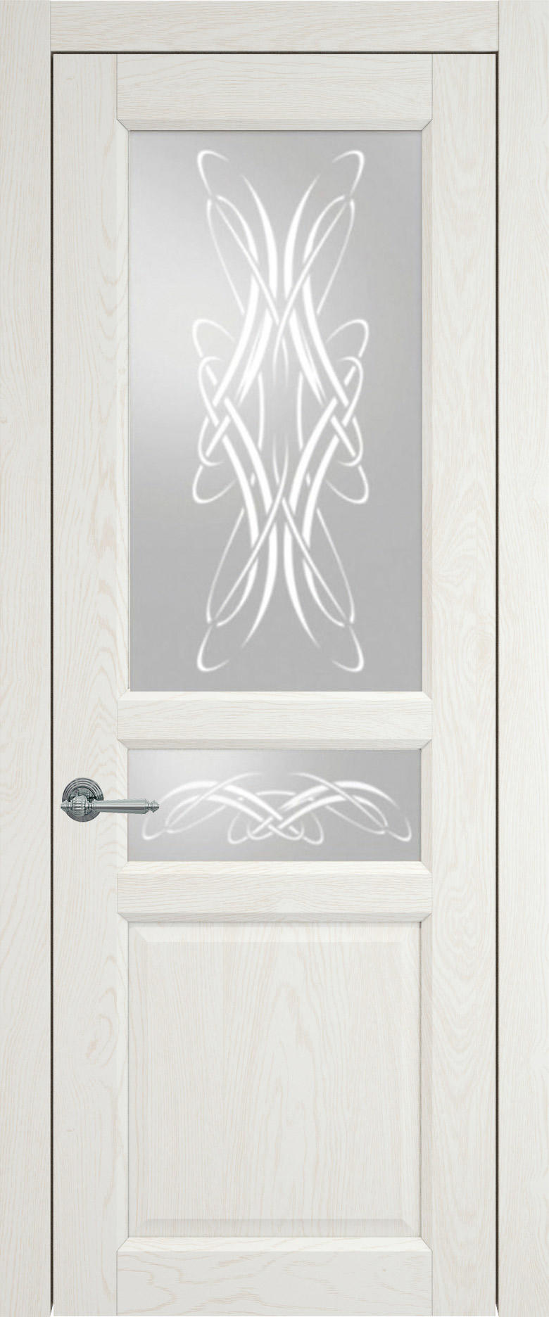 Imperia-R цвет - Белый ясень (nano-flex) Со стеклом (ДО)