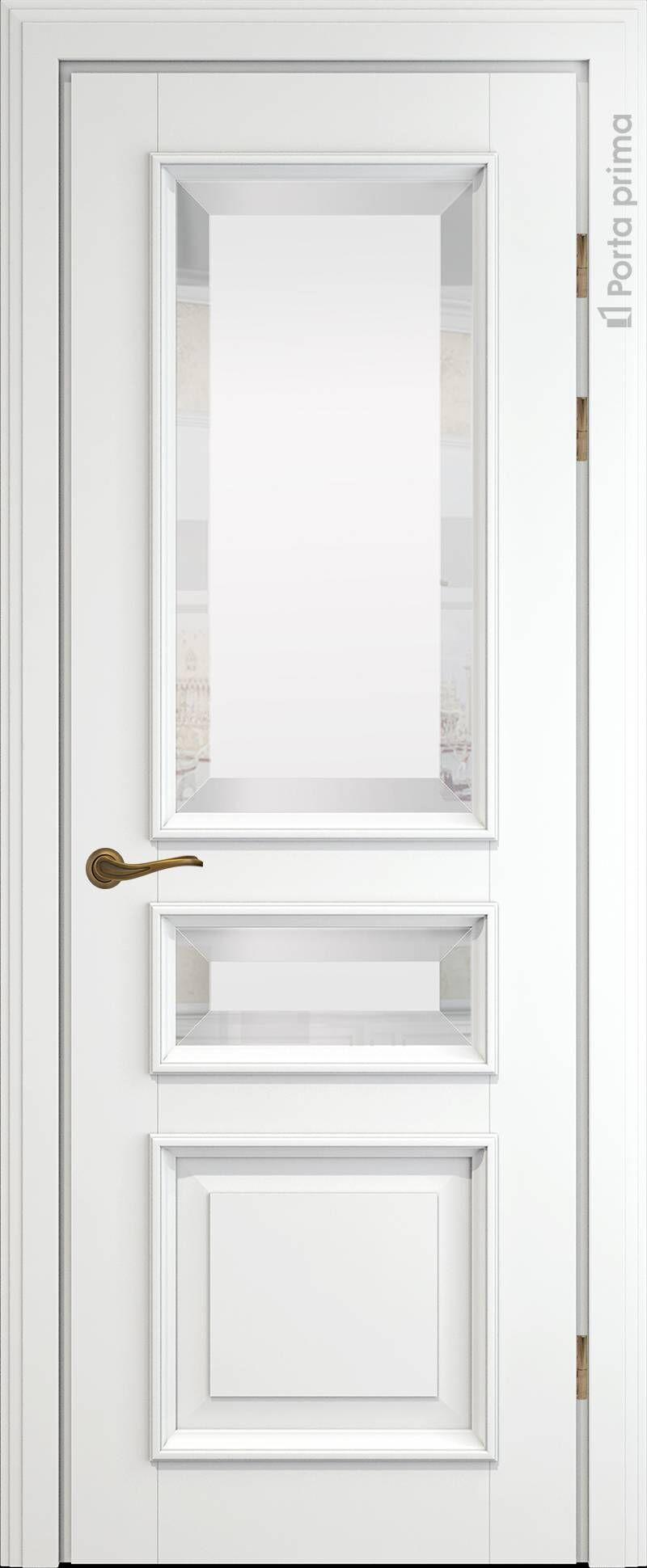 Imperia-R LUX цвет - Белая эмаль (RAL 9003) Со стеклом (ДО)