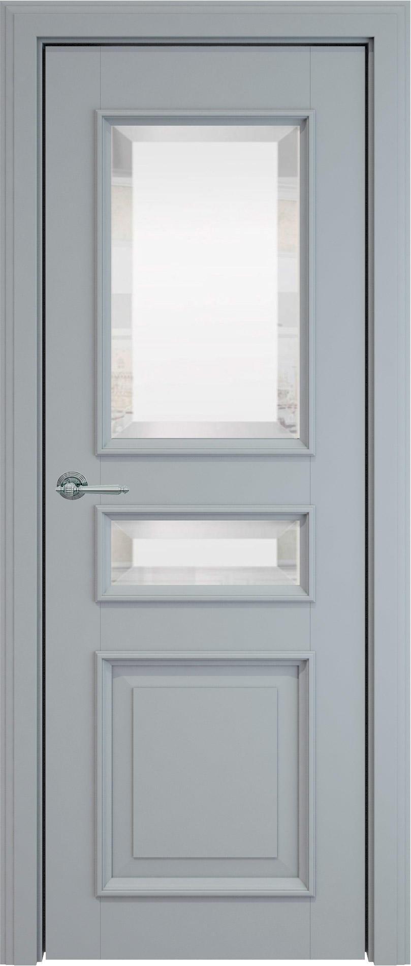 Imperia-R LUX цвет - Серебристо-серая эмаль (RAL 7045) Со стеклом (ДО)