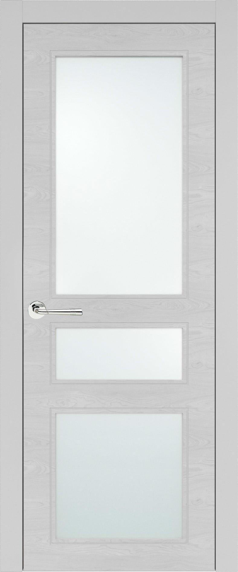 Imperia-R Neo Classic цвет - Серая эмаль по шпону (RAL 7047) Со стеклом (ДО)